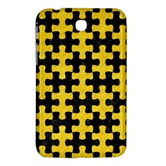Puzzle1 Black Marble & Yellow Colored Pencil Samsung Galaxy Tab 3 (7 ) P3200 Hardshell Case