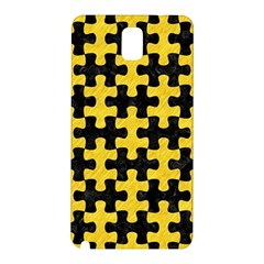 Puzzle1 Black Marble & Yellow Colored Pencil Samsung Galaxy Note 3 N9005 Hardshell Back Case