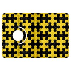 Puzzle1 Black Marble & Yellow Colored Pencil Kindle Fire Hdx Flip 360 Case