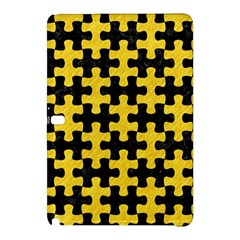 Puzzle1 Black Marble & Yellow Colored Pencil Samsung Galaxy Tab Pro 10 1 Hardshell Case