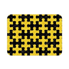 Puzzle1 Black Marble & Yellow Colored Pencil Double Sided Flano Blanket (mini)