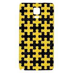 Puzzle1 Black Marble & Yellow Colored Pencil Galaxy Note 4 Back Case