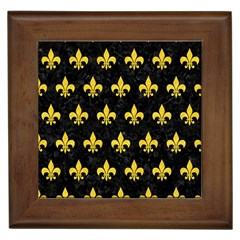 Royal1 Black Marble & Yellow Colored Pencil Framed Tiles