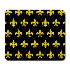 Royal1 Black Marble & Yellow Colored Pencil Large Mousepads
