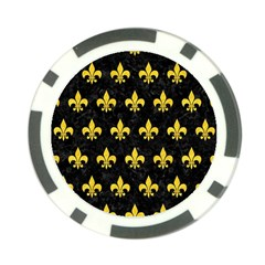Royal1 Black Marble & Yellow Colored Pencil Poker Chip Card Guard