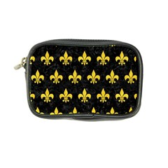 Royal1 Black Marble & Yellow Colored Pencil Coin Purse