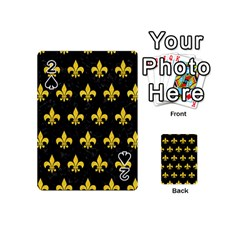 Royal1 Black Marble & Yellow Colored Pencil Playing Cards 54 (mini)