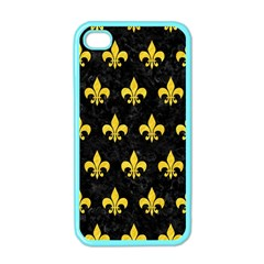 Royal1 Black Marble & Yellow Colored Pencil Apple Iphone 4 Case (color)