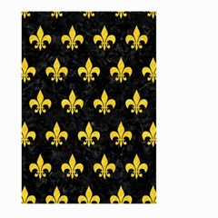 Royal1 Black Marble & Yellow Colored Pencil Large Garden Flag (two Sides)