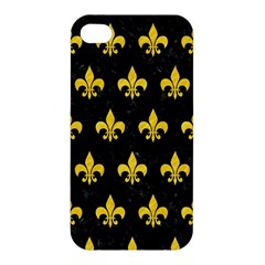 Royal1 Black Marble & Yellow Colored Pencil Apple Iphone 4/4s Premium Hardshell Case