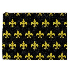Royal1 Black Marble & Yellow Colored Pencil Cosmetic Bag (xxl)