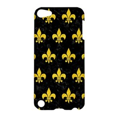 Royal1 Black Marble & Yellow Colored Pencil Apple Ipod Touch 5 Hardshell Case