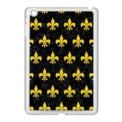 Royal1 Black Marble & Yellow Colored Pencil Apple Ipad Mini Case (white)