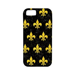 Royal1 Black Marble & Yellow Colored Pencil Apple Iphone 5 Classic Hardshell Case (pc+silicone)