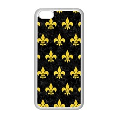Royal1 Black Marble & Yellow Colored Pencil Apple Iphone 5c Seamless Case (white)