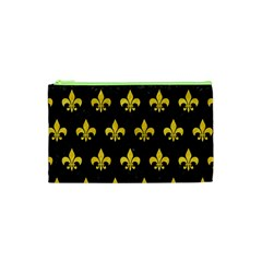 Royal1 Black Marble & Yellow Colored Pencil Cosmetic Bag (xs)