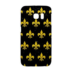 Royal1 Black Marble & Yellow Colored Pencil Galaxy S6 Edge