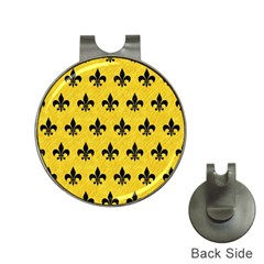 Royal1 Black Marble & Yellow Colored Pencil (r) Hat Clips With Golf Markers