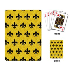 Royal1 Black Marble & Yellow Colored Pencil (r) Playing Card