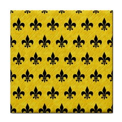 Royal1 Black Marble & Yellow Colored Pencil (r) Face Towel