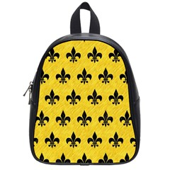 Royal1 Black Marble & Yellow Colored Pencil (r) School Bag (small)