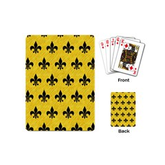 Royal1 Black Marble & Yellow Colored Pencil (r) Playing Cards (mini)