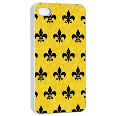 Royal1 Black Marble & Yellow Colored Pencil (r) Apple Iphone 4/4s Seamless Case (white)