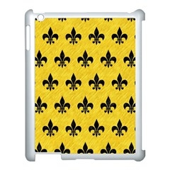 Royal1 Black Marble & Yellow Colored Pencil (r) Apple Ipad 3/4 Case (white)