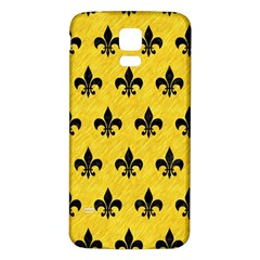 Royal1 Black Marble & Yellow Colored Pencil (r) Samsung Galaxy S5 Back Case (white)