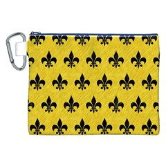 Royal1 Black Marble & Yellow Colored Pencil (r) Canvas Cosmetic Bag (xxl)