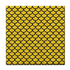 Scales1 Black Marble & Yellow Colored Pencil Tile Coasters