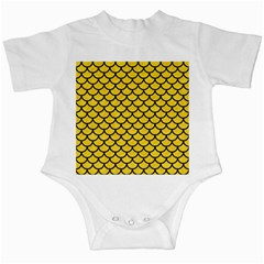 Scales1 Black Marble & Yellow Colored Pencil Infant Creepers