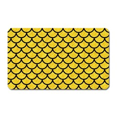 Scales1 Black Marble & Yellow Colored Pencil Magnet (rectangular)