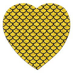 Scales1 Black Marble & Yellow Colored Pencil Jigsaw Puzzle (heart)