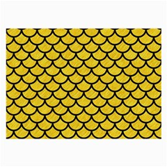 Scales1 Black Marble & Yellow Colored Pencil Large Glasses Cloth