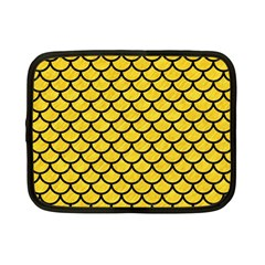 Scales1 Black Marble & Yellow Colored Pencil Netbook Case (small)