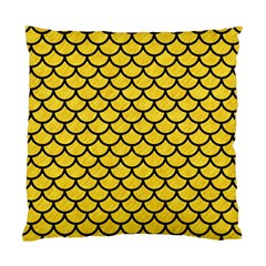 Scales1 Black Marble & Yellow Colored Pencil Standard Cushion Case (two Sides)