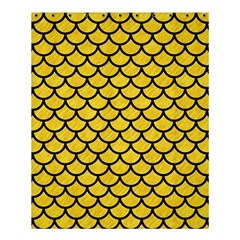 Scales1 Black Marble & Yellow Colored Pencil Shower Curtain 60  X 72  (medium)