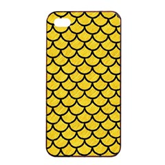 Scales1 Black Marble & Yellow Colored Pencil Apple Iphone 4/4s Seamless Case (black)