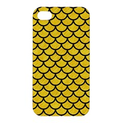 Scales1 Black Marble & Yellow Colored Pencil Apple Iphone 4/4s Hardshell Case
