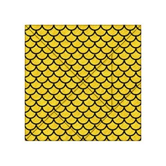 Scales1 Black Marble & Yellow Colored Pencil Acrylic Tangram Puzzle (4  X 4 )