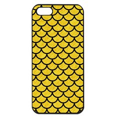 Scales1 Black Marble & Yellow Colored Pencil Apple Iphone 5 Seamless Case (black)
