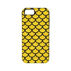 Scales1 Black Marble & Yellow Colored Pencil Apple Iphone 5 Classic Hardshell Case (pc+silicone)