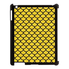 Scales1 Black Marble & Yellow Colored Pencil Apple Ipad 3/4 Case (black)