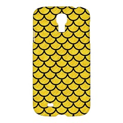Scales1 Black Marble & Yellow Colored Pencil Samsung Galaxy S4 I9500/i9505 Hardshell Case