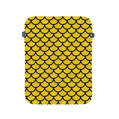 Scales1 Black Marble & Yellow Colored Pencil Apple Ipad 2/3/4 Protective Soft Cases