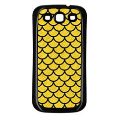 Scales1 Black Marble & Yellow Colored Pencil Samsung Galaxy S3 Back Case (black)
