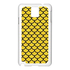 Scales1 Black Marble & Yellow Colored Pencil Samsung Galaxy Note 3 N9005 Case (white)