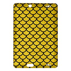 Scales1 Black Marble & Yellow Colored Pencil Amazon Kindle Fire Hd (2013) Hardshell Case