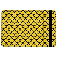 Scales1 Black Marble & Yellow Colored Pencil Ipad Air 2 Flip